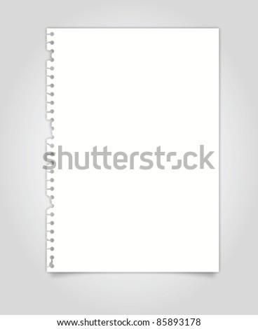 Torn paper vector - stock vector