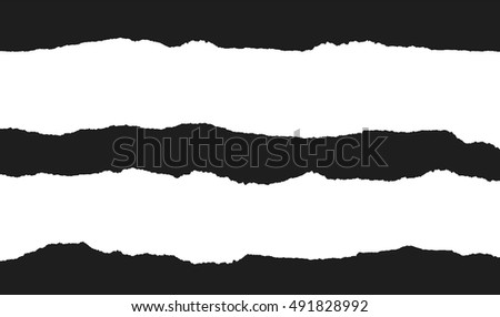 torn paper vector  design