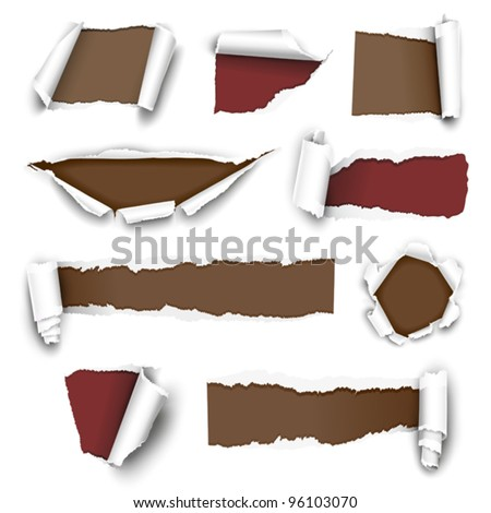 Torn paper. Vector illustration