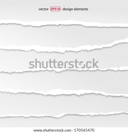 torn paper vector, layered