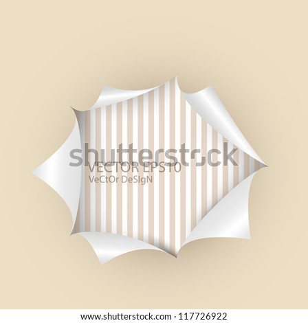 Torn paper with space for text. Vector illustration.