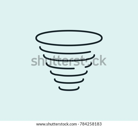 Tornado icon line isolated on clean background. Hurricane concept drawing icon line in modern style. Vector illustration for your web site mobile logo app UI design.