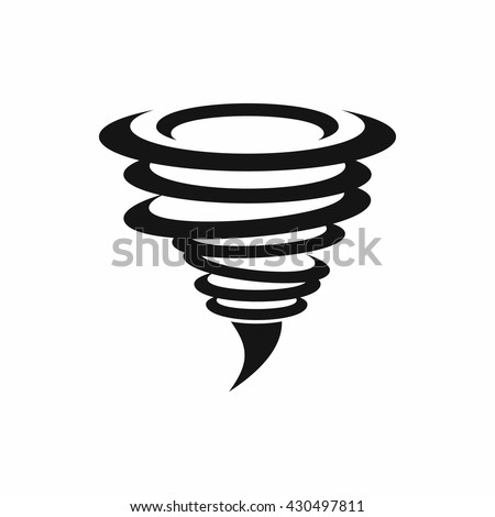 Tornado icon. Tornado storm icon isolated on white background. Typhoon, cyclone and hurricane simple vector illustration