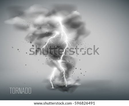 tornado on a simple background
