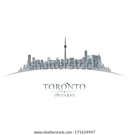 Toronto Ontario Canada city skyline silhouette Vector illustration