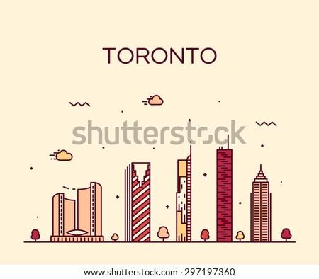 toronto skyline  detailed