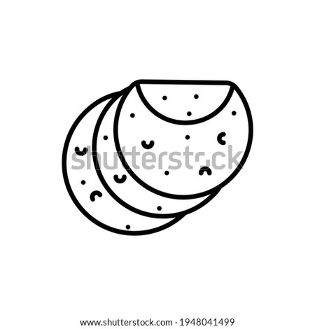 Tortilla Line Icon Isolated On White Background Foto stock ©