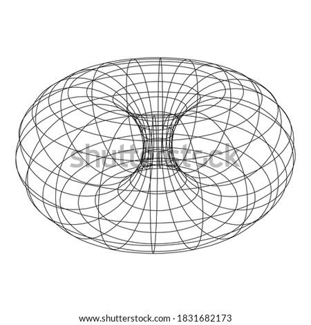 Torus Topology Circle Geometry Mathematics on white background.  Сток-фото ©