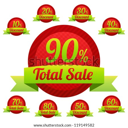 total sale christmas tags with