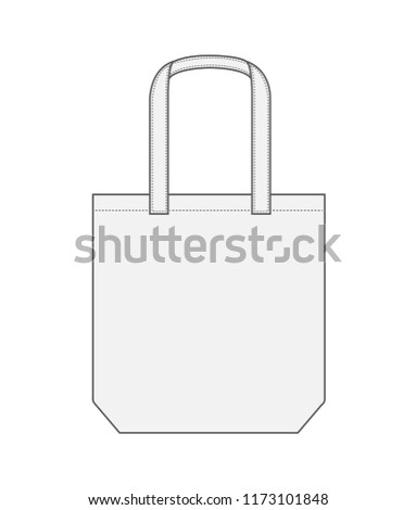 Tote bag / shopping bag / eco bag template illustration (white)