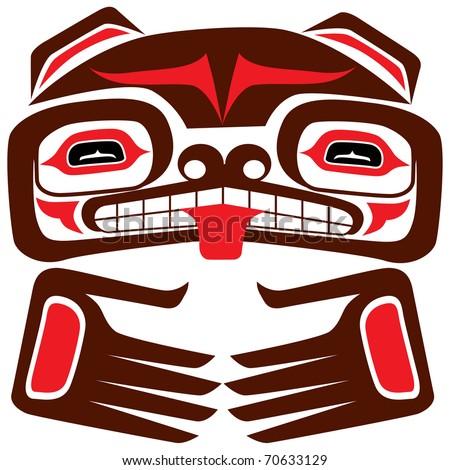 Totem bear of american...