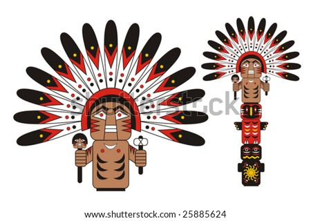 Totem Indian chief
