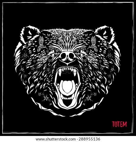 totem pole  grizzly bear