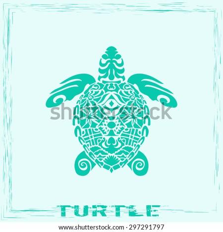 totem pole   turtle vector
