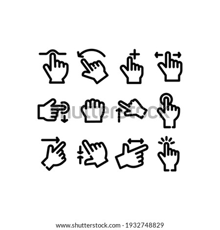 Touch Gestures line Icon set. Touch Gestures icon Vector Illustration Template For Web and Mobile Stockfoto ©