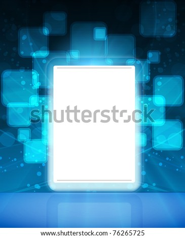 touch pad or tablet pc vector