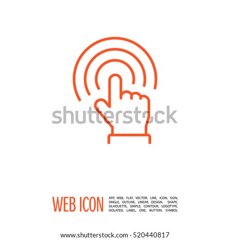 touch screen icon isolated