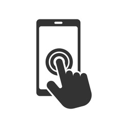 Touch Screen Icon - Swipe Gesture  Illustration As A Simple Vector Sign & Trendy Symbol for Design and Websites, Presentation or Mobile Application.