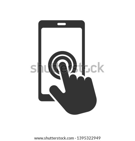 Touch Screen Icon - Swipe Gesture  Illustration As A Simple Vector Sign & Trendy Symbol for Design and Websites, Presentation or Mobile Application. Stockfoto ©