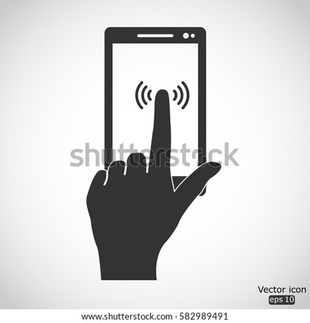 Touch screen icon - vector  illustration
