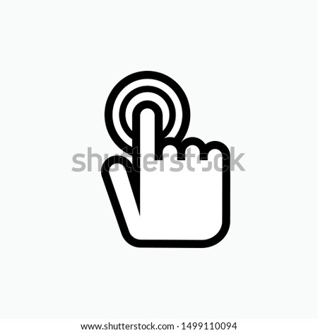 Touch Screen Icon - Vector, Sign and Symbol for Design, Presentation, Website or Apps Elements.