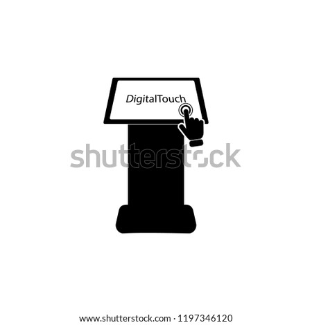 Touch Screen Kiosks, Digital Touch System on touch screen icon. Element of touch screen technology icon. Premium quality graphic design icon. Signs and symbols collection icon