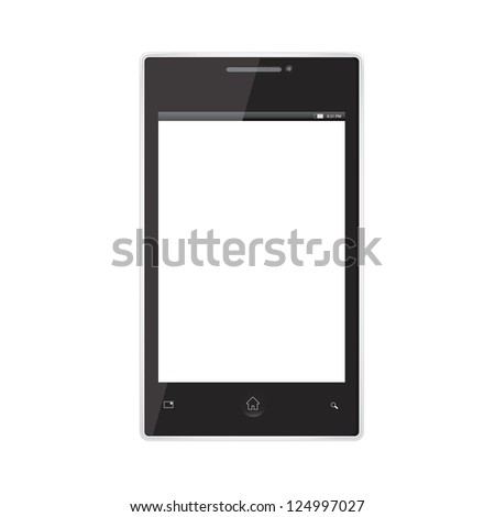 Touch screen mobile phone template