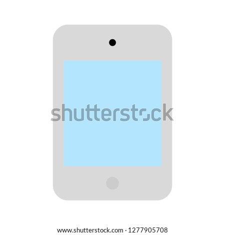 touch screen phone icon - touch screen phone isolated, smartphone illustration - Vector mobile