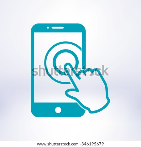 touch screen smartphone sign
