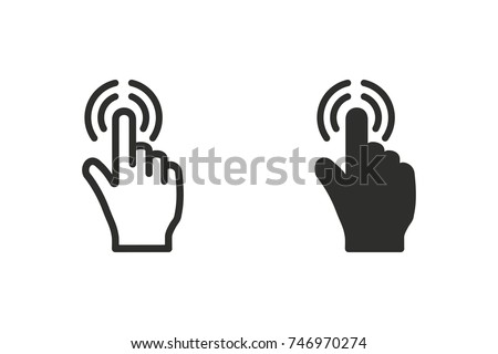 Touch vector icon. Black illustration isolated on white background for graphic and web design.