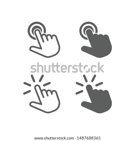 Touch vector icon for graphic and website design ストックフォト ©