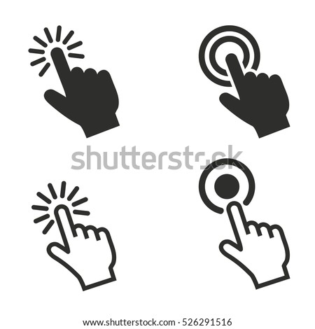 touch vector icons set
