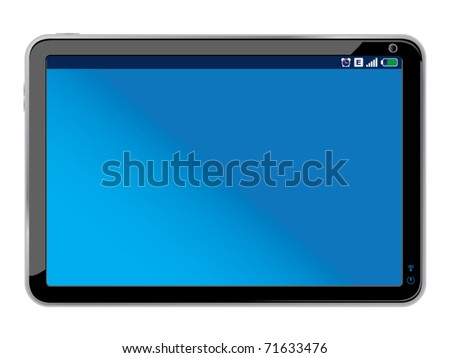 touchpad or tablet pc isolated on white - Original design - stock vector