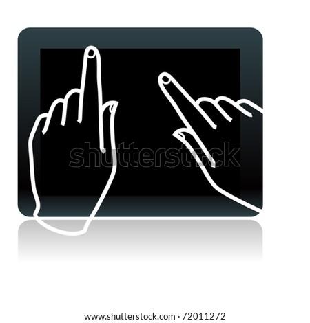 touchscreen digital tablet