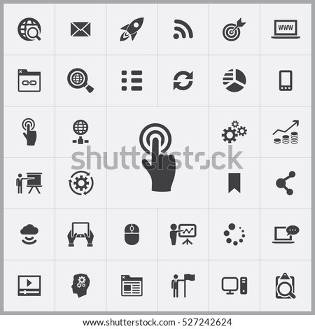 touchscreen icon. digital marketing icons universal set for web and mobile