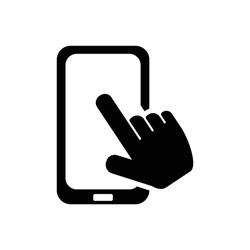 touchscreen icon vector logo symbol