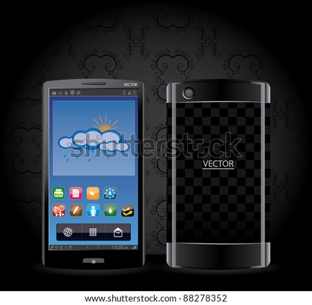 Touchscreen tablet - smartphone