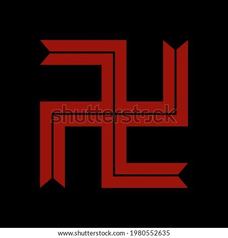 touman gang symbol on anime tokyo revengers. vector file Imagine de stoc ©