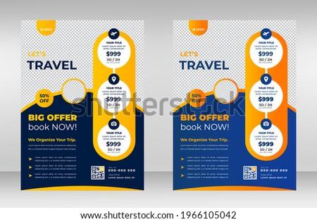 Tour and Travel flyer. travel flyer. tour and travel flyer or Brochure Template Business concept.  Flyer design for Tour and Travel Business concept. Vector  new tour brochure design. eps 10