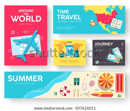 tour of the world vector