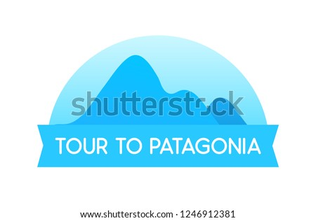 tour to patagonia  vector
