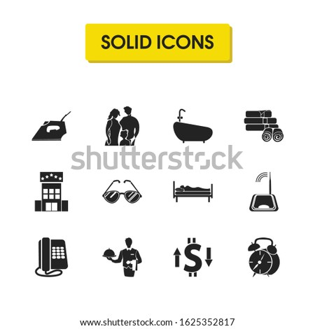 tourism icons set with router