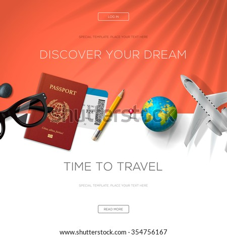 tourism website template  time