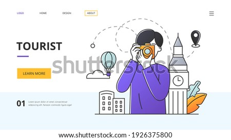 tourist and travel concept with