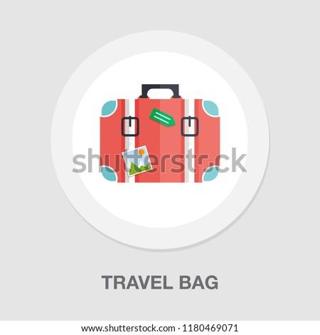 tourist bag - travel icon - luggage icon - holiday vacation bag