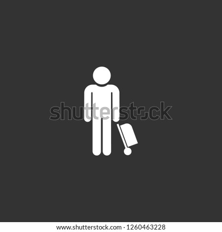 tourist icon vector. tourist sign on black background. tourist icon for web and app