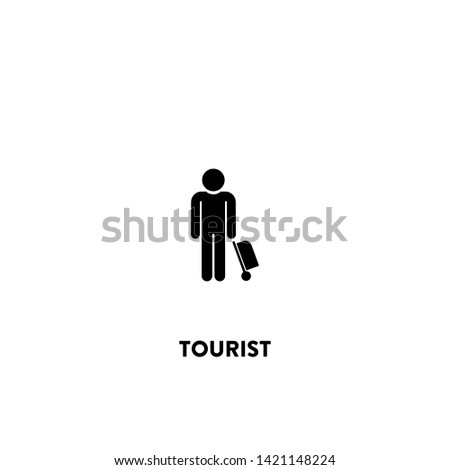 tourist icon vector. tourist sign on white background. tourist icon for web and app