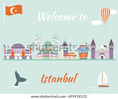 tourist poster of istanbul with