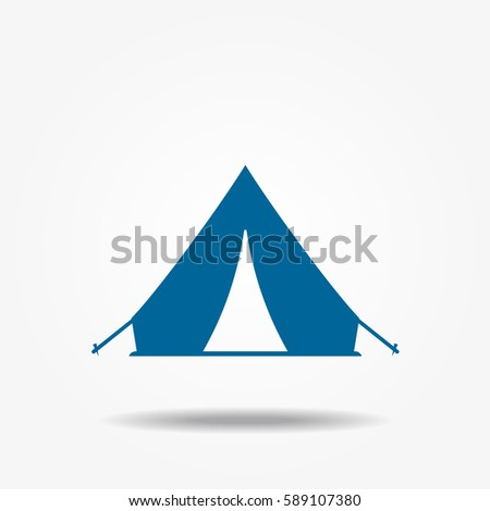 Tourist tent icon vector