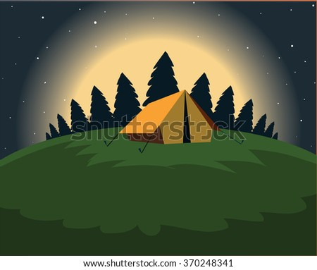 Clearing In The Woods At Night